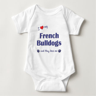 I Love My French Bulldogs (Multiple Dogs) Shirt