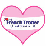 I Love My French Trotter (Male Horse) Photo Sculpture