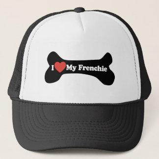 I Love My Frenchie - Dog Bone Trucker Hat
