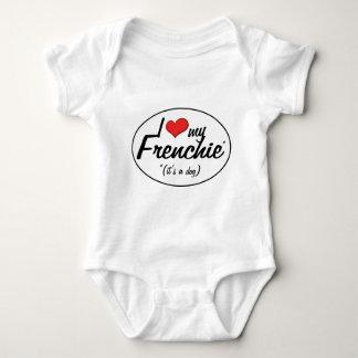 I Love My Frenchie (It's a Dog) Baby Bodysuit