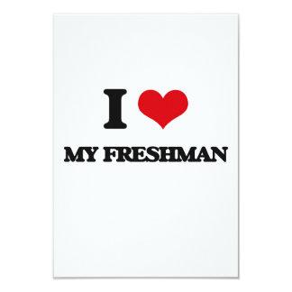"I Love My Freshman 3.5"" X 5"" Invitation Card"