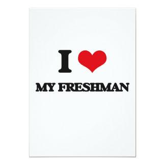 "I Love My Freshman 5"" X 7"" Invitation Card"
