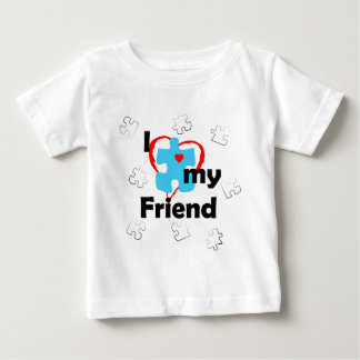 I Love My Friend - Autism Baby T-Shirt