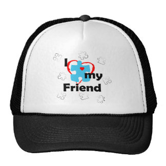 I Love My Friend - Autism Trucker Hat