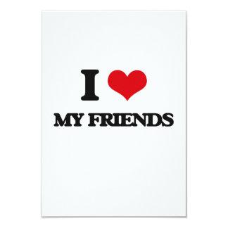 I love My Friends 3.5x5 Paper Invitation Card