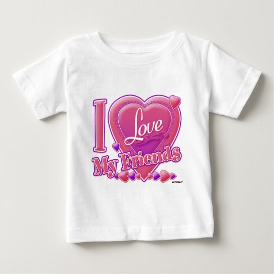 I Love My Friends pink/purple - heart Baby T-Shirt