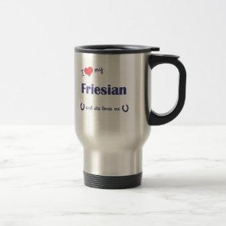 I Love My Friesian (Female Horse) Travel Mug