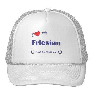 I Love My Friesian (Male Horse) Hat