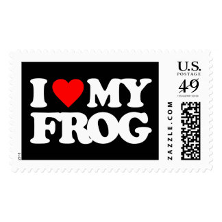 I LOVE MY FROG STAMPS