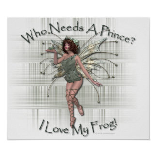 I Love My Frog Poster