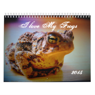 I love my Frogs Custom Printed Calendar