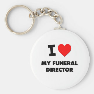I Love My Funeral Director Keychain