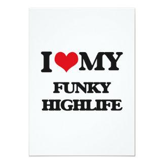 "I Love My FUNKY HIGHLIFE 5"" X 7"" Invitation Card"