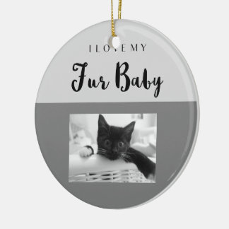 I Love My Fur Baby Custom Ornament