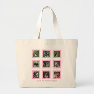 I Love My Furry Friend: Pink Picture Collage Bag