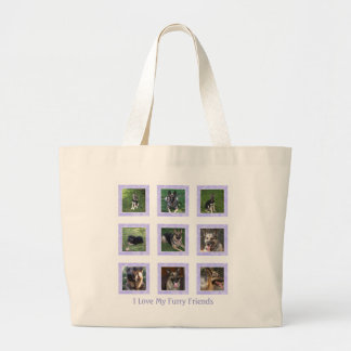 I Love My Furry Friend: Purple Picture Collage Bag