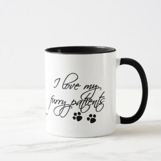I Love my Furry Patients-with paw prints Mug