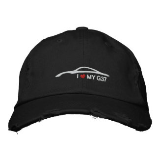 I Love My G37 - black Embroidered Baseball Cap