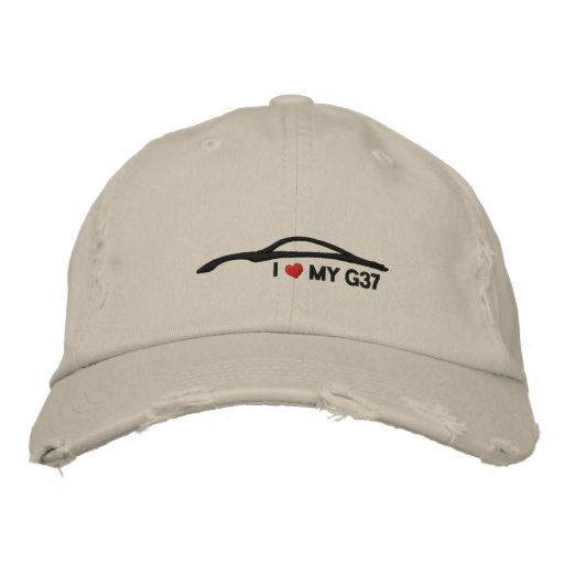 I Love My G37 Embroidered Baseball Hat