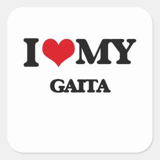 I Love My GAITA Square Sticker