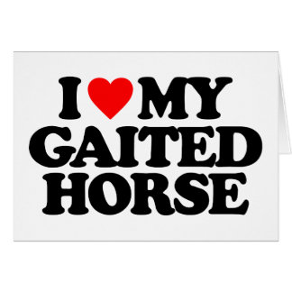 I LOVE MY GAITED HORSE GREETING CARDS