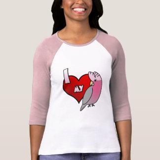 I Love my Galah Cockatoo Ladies 3/4 Sleeve Shirt