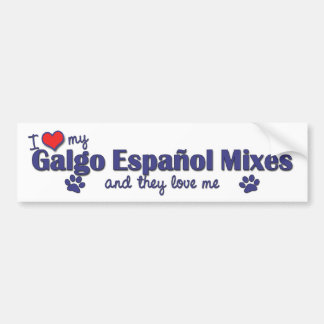 I Love My Galgo Espanol Mixes (Multiple Dogs) Bumper Sticker