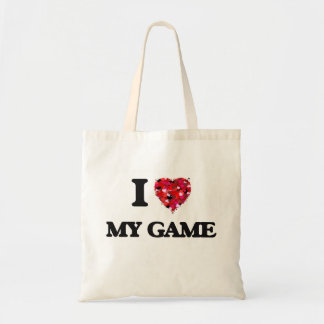 I Love My Game Budget Tote Bag