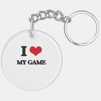 I Love My Game Double-Sided Round Acrylic Keychain