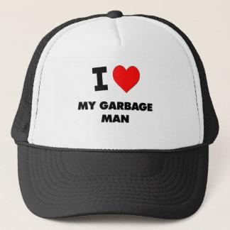 I Love My Garbage Man Trucker Hat
