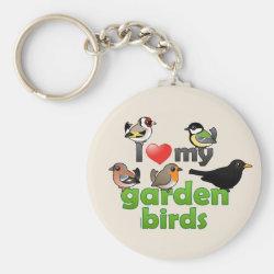 I Love My Garden Birds Products with Cute British Birds