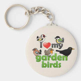 I Love My Garden Birds Keychains