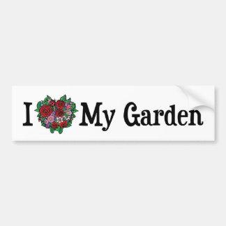 I Love My Garden Bumper Sticker Car Bumper Sticker