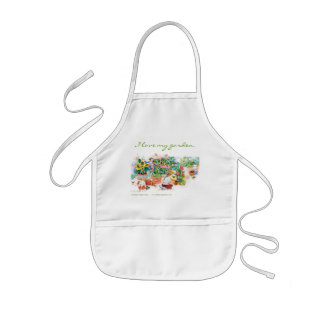 I love my garden kids' apron