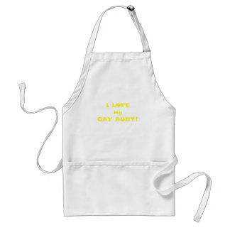 I Love my Gay Aunt Adult Apron