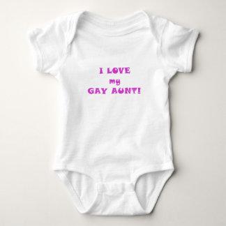 I Love my Gay Aunt Baby Bodysuit