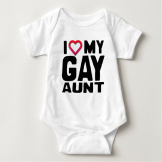 I LOVE MY GAY AUNT -.png Baby Bodysuit