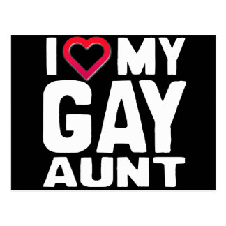 I LOVE MY GAY AUNT - -.png Post Cards