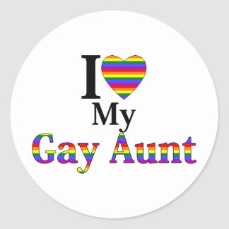 I Love My Gay Aunt Stickers