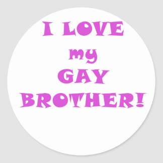 I Love my Gay Brother Classic Round Sticker
