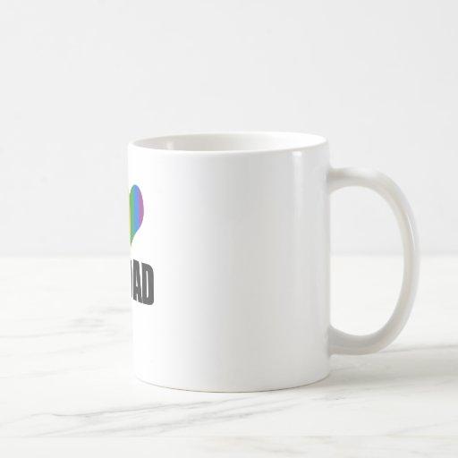I Love my gay dad Coffee Mugs
