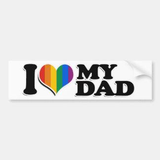 I LOVE MY GAY DAD -.png Car Bumper Sticker