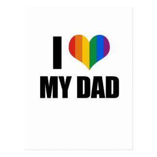 I Love my gay dad Post Card