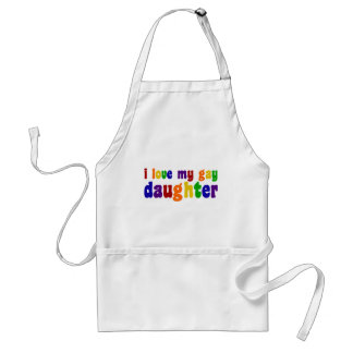 I Love My Gay Daughter Adult Apron