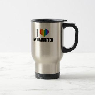 I Love my gay daughter Travel Mug