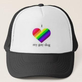 I love my gay dog trucker hat