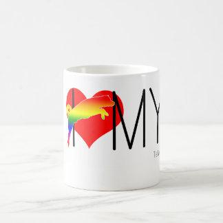 I love my gay dog vibrant and timeles coffee mug
