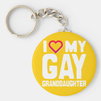I LOVE MY GAY GRANDDAUGHTER - -.png Basic Round Button Keychain