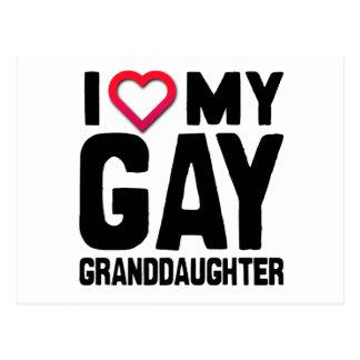 I LOVE MY GAY GRANDDAUGHTER -.png Postcard