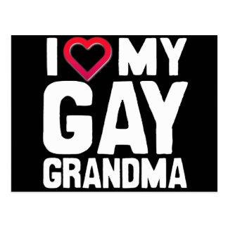 I LOVE MY GAY GRANDMA - -.png Post Cards